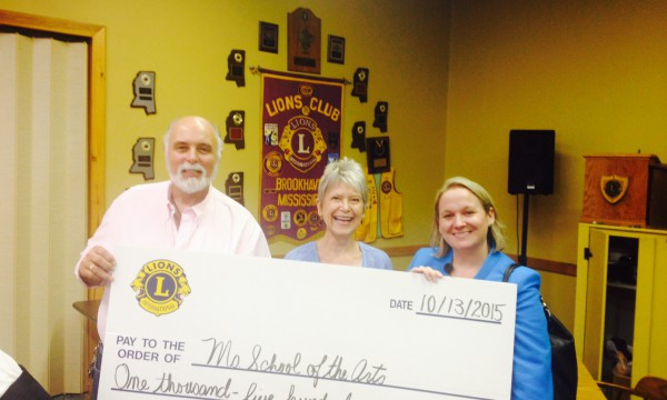 Brookhaven Lions Club Donates $1,500 to MSA