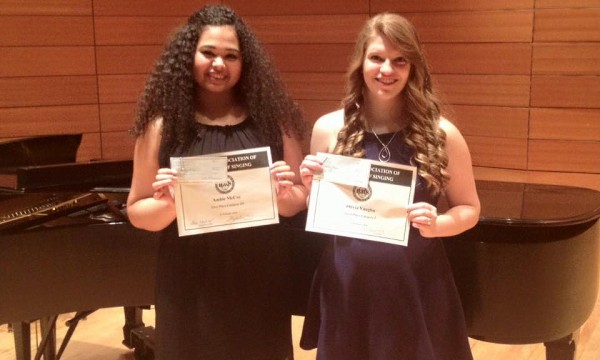 Two Vocal Students Place at 2016 State NATS Competition